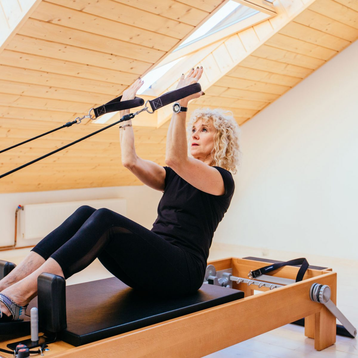 Pilates Reformer Used By Woman In New Zealand